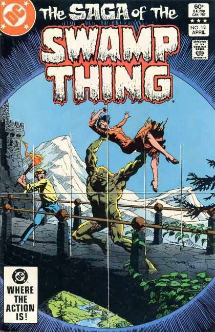 Saga of the Swamp Thing 12 - Dc Comics - Monster - Castle - Torch - Kidnapping - Thomas Yeates