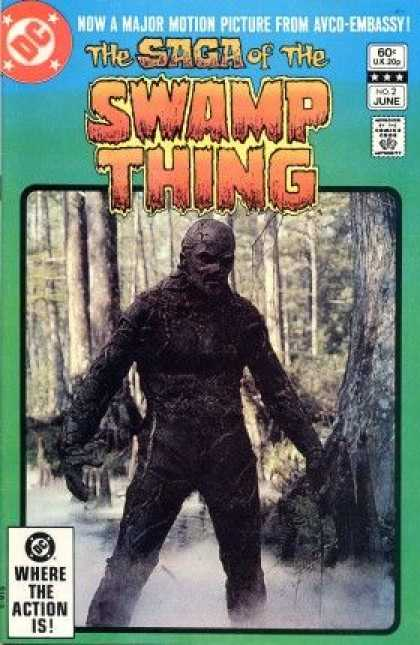 Saga of the Swamp Thing 2 - Dc - Comics Code - Monster - Where The Action Is - Avco-embassy