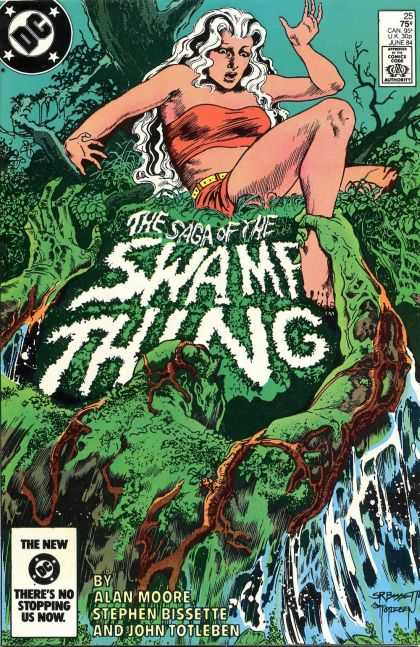 Saga of the Swamp Thing 25 - Woman - Monster - Trees - Jungle - Water - John Totleben