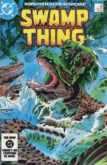 Saga of the Swamp Thing 32 - Dc - Alligator - Sophisticated Suspense - Animals - Wrestling - John Totleben