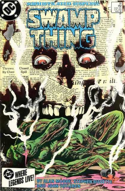 Saga of the Swamp Thing 35 - Suspense - Newspaper - Dc - Alan Moore - Monster - John Totleben