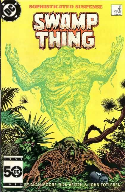 Saga of the Swamp Thing 37 - Monster - Swamp - Jungle - Canister - Alan Moore - John Totleben