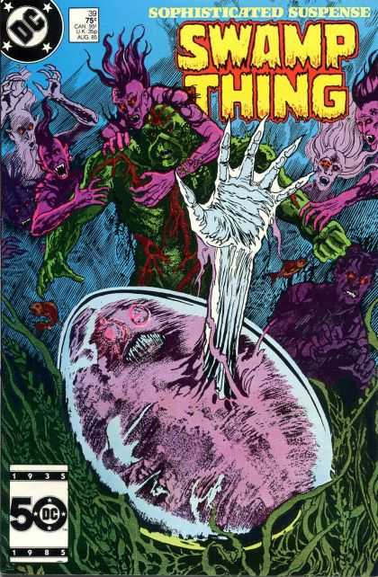 Saga of the Swamp Thing 39 - Sophisticated Suspense - 39 - Alien Egg - Purple Men - Green Monster