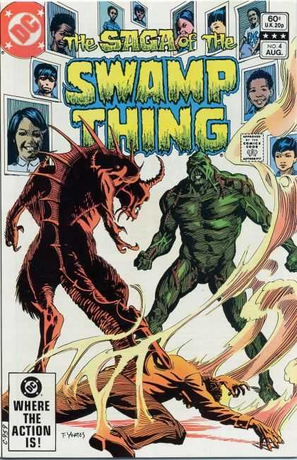 Saga of the Swamp Thing 4 - Swamp Thing - Dc Comics - Where The Action Is - Vintage Comic - Swamp Thing Versus Monster - Thomas Yeates