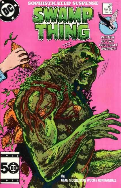 Saga of the Swamp Thing 43 - Plants - Roots - Green Body - Human Hand - Fingernails - John Totleben
