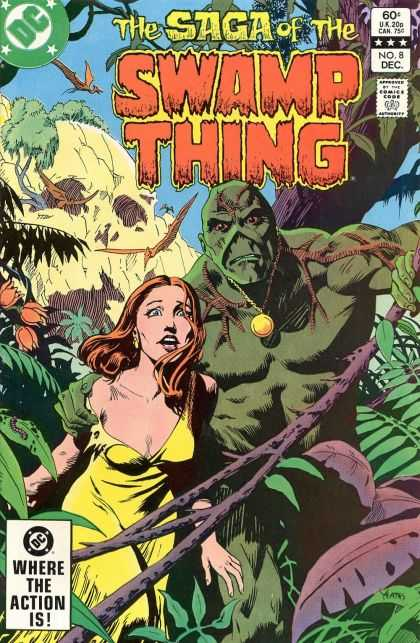 Saga of the Swamp Thing 8 - Dc - Green - Monster - Woman - Vines - Thomas Yeates