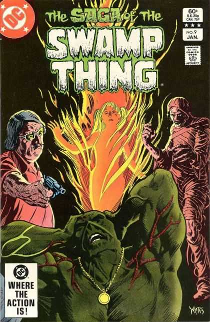 Saga of the Swamp Thing 9 - Smoke - Man - Fire - Woman - Glass - Thomas Yeates