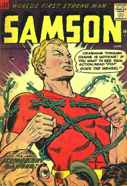 Samson 13 - Strong - Chains - Breaking - Power - Amazement