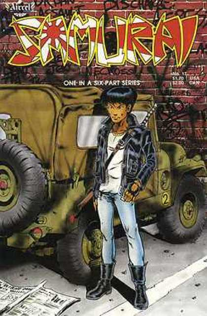 Samurai 17 - Boots - Jeep - Brick Wall - Leather Jacket - Parking Lot