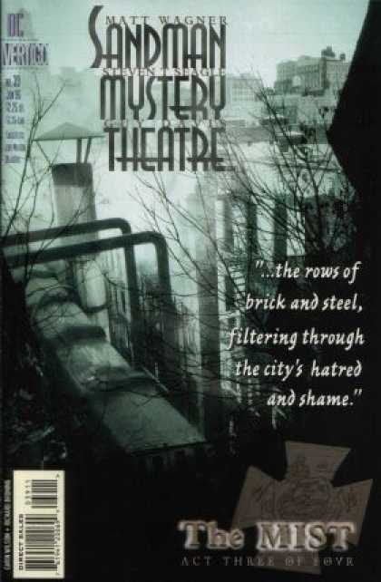 Sandman Mystery Theatre 39 - The Rows Of Brick And Steel - Industrial - City - Dusk - Hatred And Shame