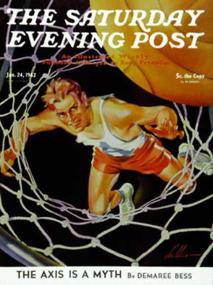Saturday Evening Post - 1942-01-24: Two Points (Ski Weld)