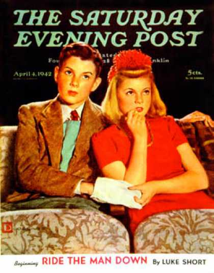 Saturday Evening Post - 1942-04-04: Movie Date (Douglas Crockwell)