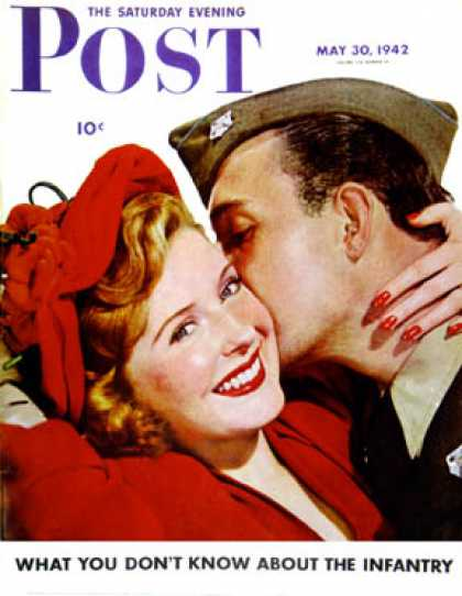 Saturday Evening Post - 1942-05-30: Homecoming Kiss (Ruzzie Green)