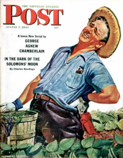 Saturday Evening Post - 1943-08-07: Victory Garden (Howard Scott)
