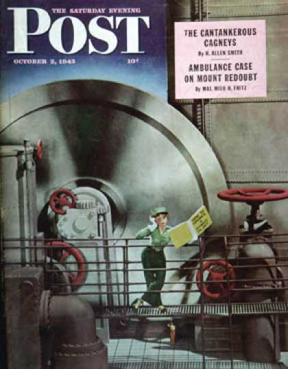 Saturday Evening Post - 1943-10-02: How to Operate a Power Plant (Russell Patterson)