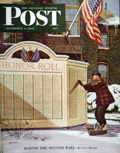 Saturday Evening Post - 1943-12-04: Honoring the Dead (Stevan Dohanos)