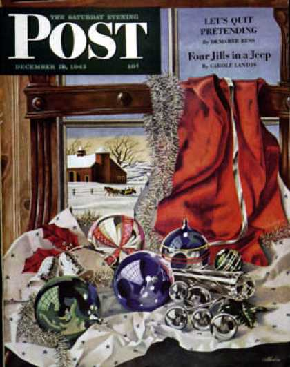 Saturday Evening Post - 1943-12-18: Christmas Ornaments (John Atherton)