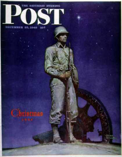 Saturday Evening Post - 1943-12-25: Lone Soldier (Mead Schaeffer)