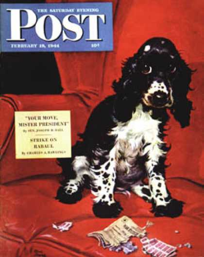 Saturday Evening Post - 1944-02-19: Butch Ate the Coupons (Albert Staehle)