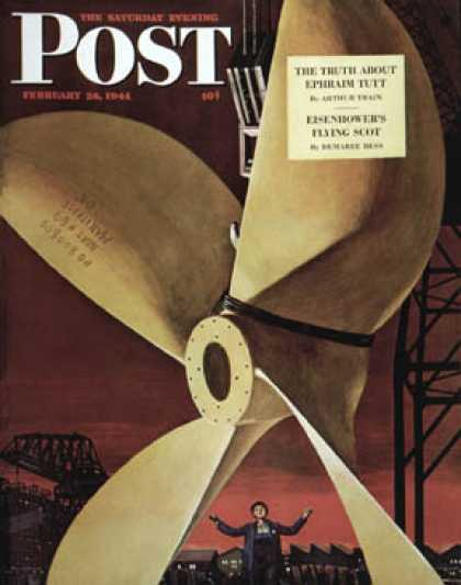 Saturday Evening Post - 1944-02-26: Ships Propeller (Fred Ludekens)