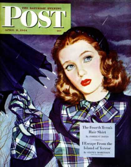 Saturday Evening Post - 1944-04-08: April Shower (Alex Ross)