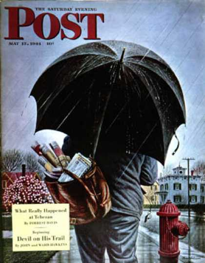 Saturday Evening Post - 1944-05-13: Mailman (Stevan Dohanos)