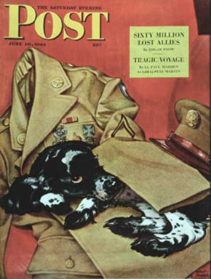 Saturday Evening Post - 1944-06-10: Master's Uniform (Albert Staehle)