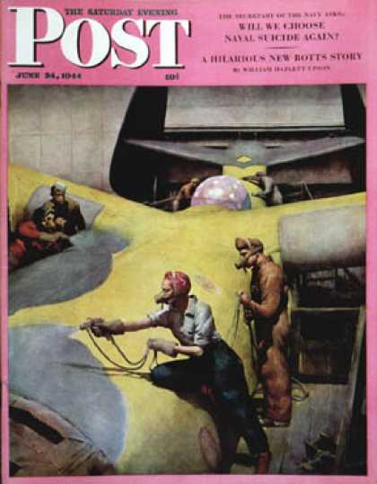 Saturday Evening Post - 1944-06-24: Airplan Defense Factory (Robert Riggs)