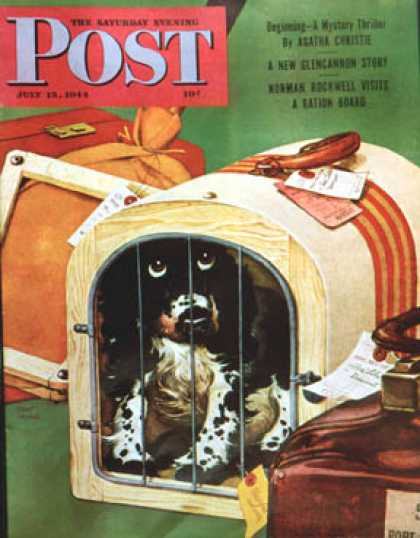 Saturday Evening Post - 1944-07-15: Traveling Butch (Albert Staehle)