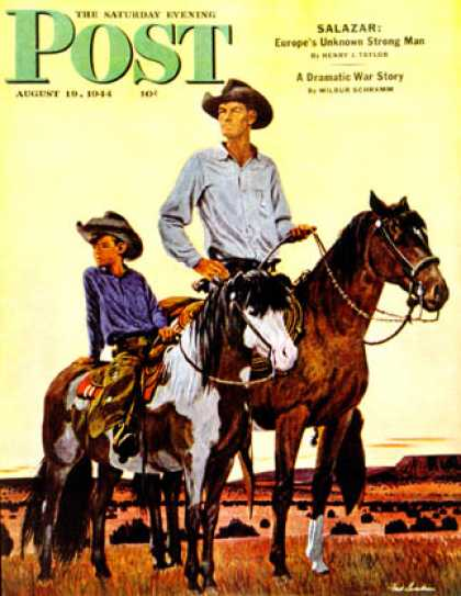 Saturday Evening Post - 1944-08-19: Surveying the Ranch (Fred Ludekens)