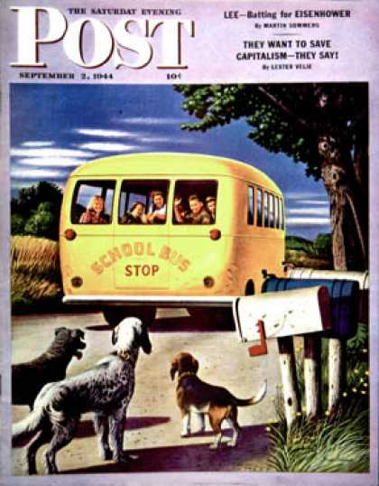 Saturday Evening Post - 1944-09-02: School Bus (Stevan Dohanos)