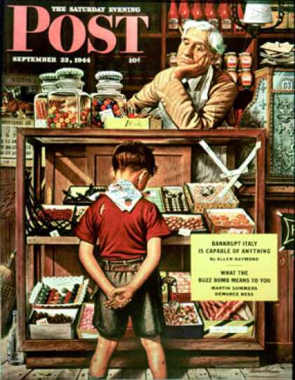 Saturday Evening Post - 1944-09-23: Penny Candy (Stevan Dohanos)