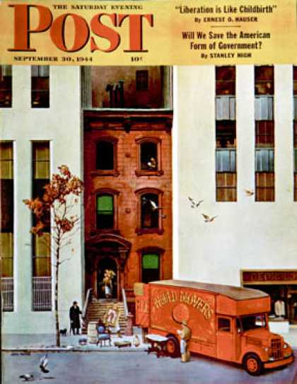 Saturday Evening Post - 1944-09-30: Moving day (John Falter)