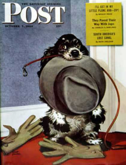 Saturday Evening Post - 1944-10-07: Go for A Walk? (Albert Staehle)