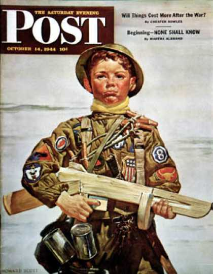 "Saturday Evening Post - 1944-10-14: ""Commando Kid"" (Howard Scott)"