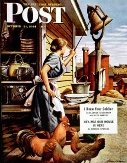 Saturday Evening Post - 1944-10-21: Dinner Bell (Stevan Dohanos)