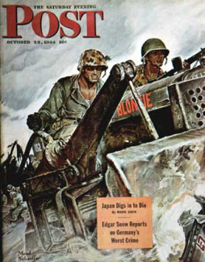 Saturday Evening Post - 1944-10-28: Corp of Engineers (Mead Schaeffer)