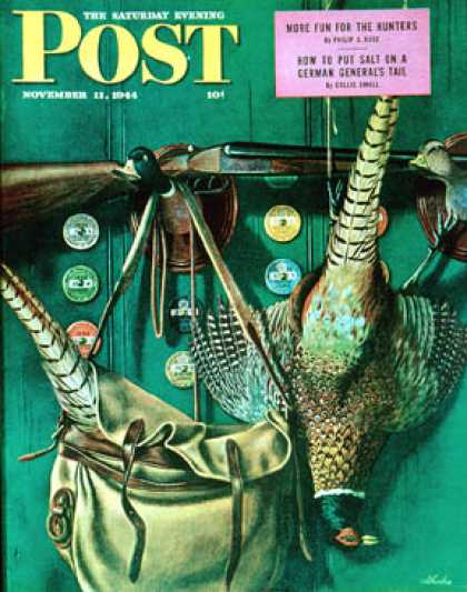 Saturday Evening Post - 1944-11-11: Hunting still life (John Atherton)