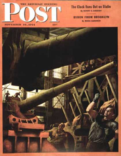 Saturday Evening Post - 1944-11-18: Gun Factory (Robert Riggs)