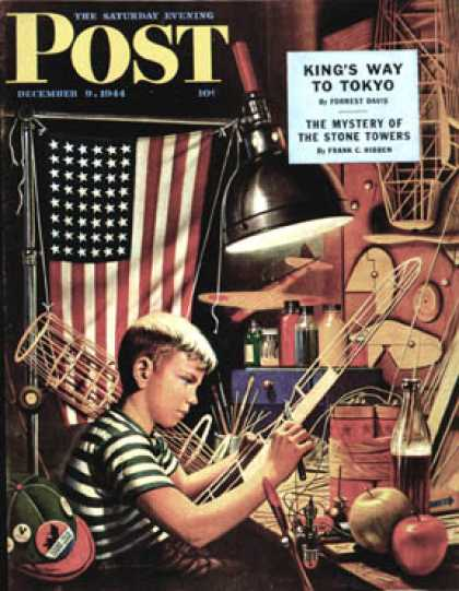 Saturday Evening Post - 1944-12-09: Model Airplanes (Stevan Dohanos)