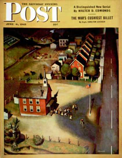 Saturday Evening Post - 1945-06-09: School's Out (John Falter)