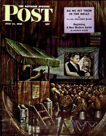 Saturday Evening Post - 1945-07-14: Army Entertainment (Stevan Dohanos)