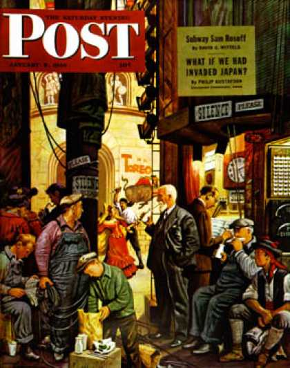 Saturday Evening Post - 1946-01-05: Backstage at the Met (Stevan Dohanos)