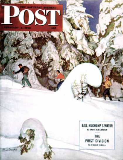 Saturday Evening Post - 1946-02-02: Cross Country Skiers (Mead Schaeffer)
