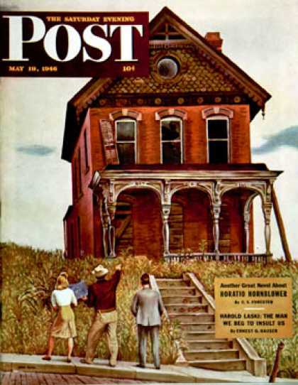 Saturday Evening Post - 1946-05-18: This Old House (John Falter)