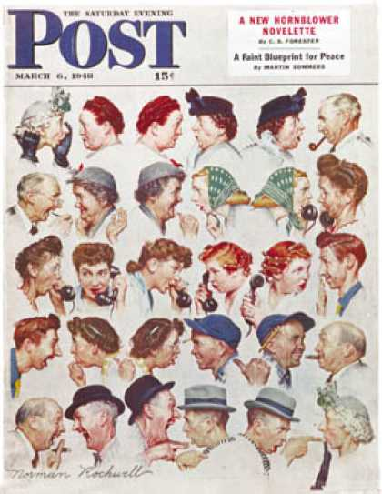 "Saturday Evening Post - 1948-03-06: ""Gossips"" (Norman Rockwell)"