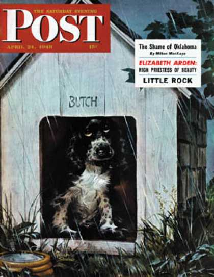 Saturday Evening Post - 1948-04-24: In the Doghouse (Albert Staehle)