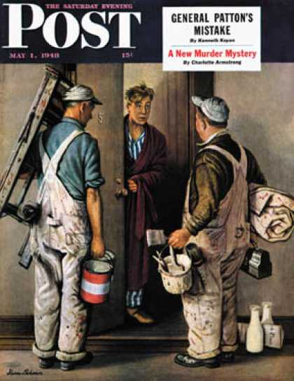 Saturday Evening Post - 1948-05-01: Apartment Painters (Stevan Dohanos)