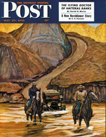 Saturday Evening Post - 1948-05-29: Westward Tow (Mead Schaeffer)