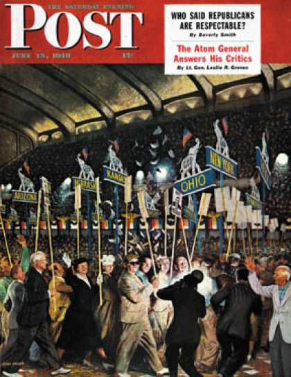 Saturday Evening Post - 1948-06-19: Republican Convention (John Falter)
